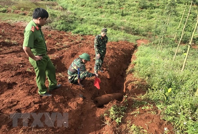 Bomb destroyed successfully in Đắk Nông