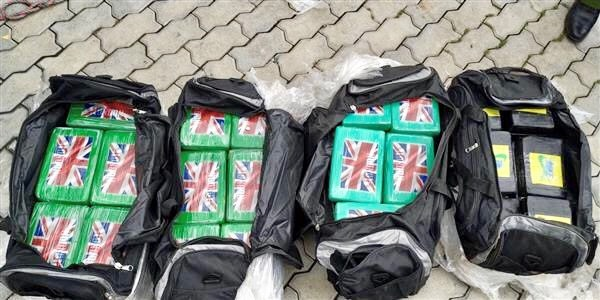 100 cakes of heroin detected in imported scrap container