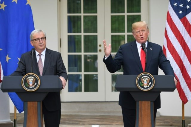 Trump EUs Juncker agree to ease trade tensions