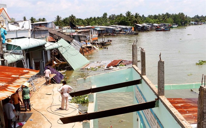 Erosion incidents increase in Mekong Delta