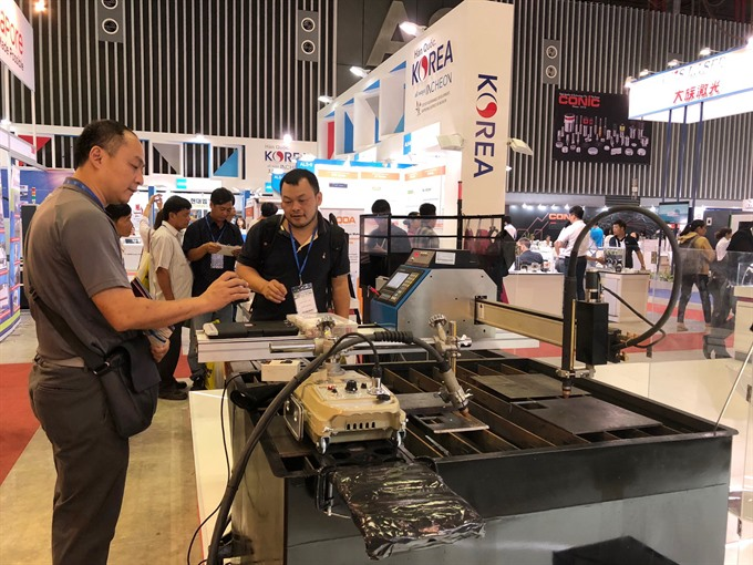 Machine metalworking expo opens in HCM City