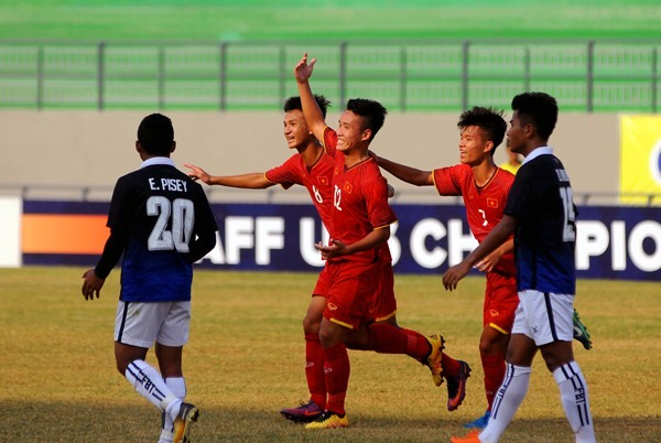 U16 Việt Nam beat U16 Cambodia at U16 South East Asia