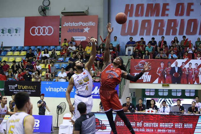 Justin Young and Jaywuan Hill collected points to Thang Long Warriors at VBA 2018