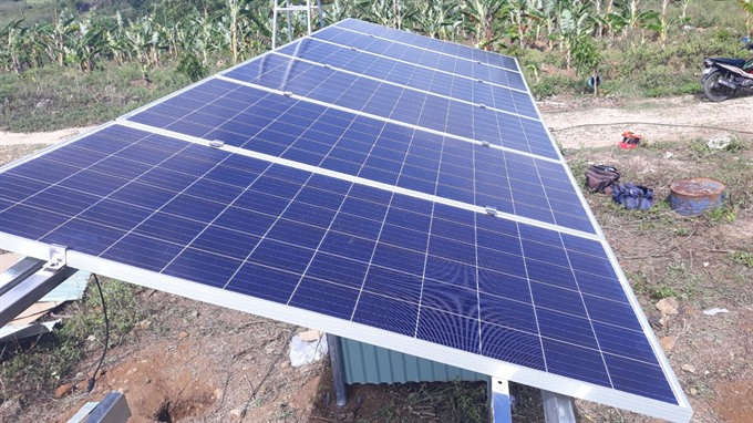 Central province begins solar power project at log farm