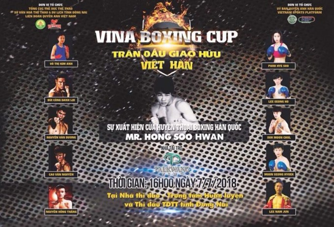 Vina Boxing Cup 2018 to start