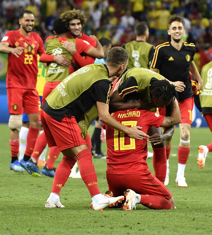 Brazils own goal helps Belgium to semifinal in breathtaking clash