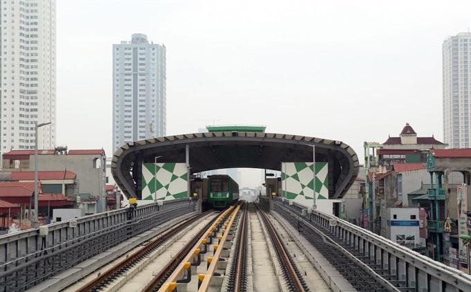 Cát Linh - Hà Đông metro line connected to national power grid