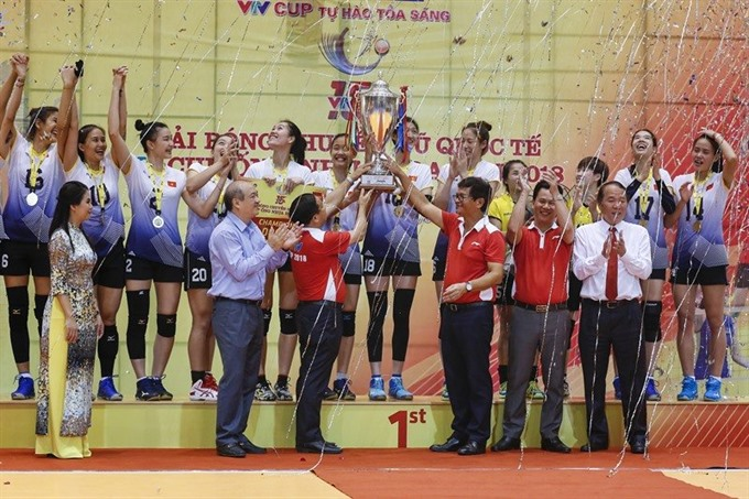 National womens volleyball team wins at VTV champ