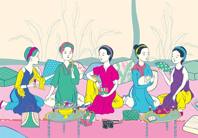 Classic contemporary beauty of Vietnamese women reflected