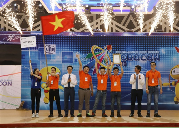Việt Nam team crowned champion in the ABU Robocon