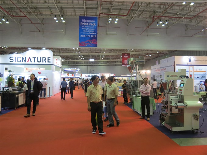 Printing packaging food processing exhibition opens in HCM City