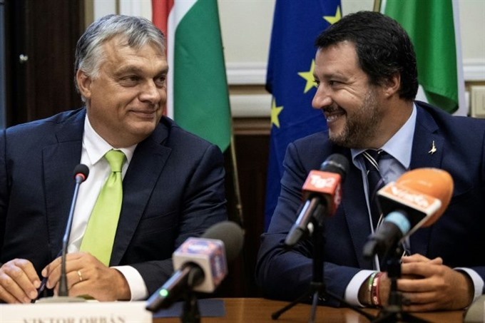 Salvini and Orban ready anti-migrant fight ahead of EU elections