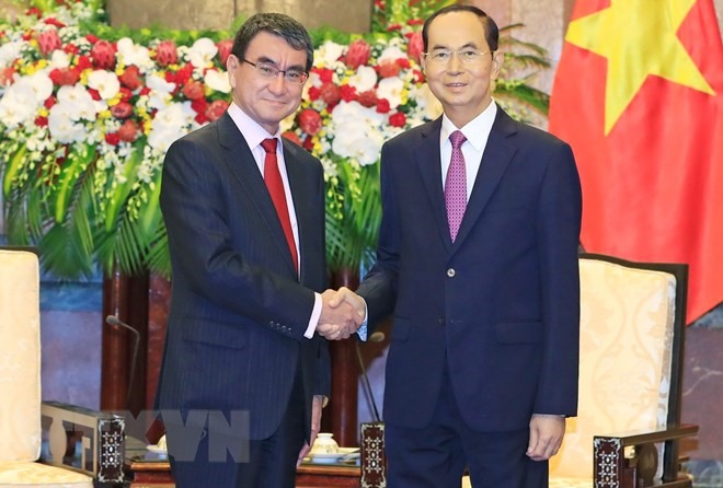 President seeks stronger cooperation with Japan