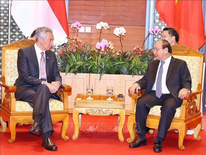 WEF ASEAN 2018: PM Nguyễn Xuân Phúc welcomes Singaporean counterpart