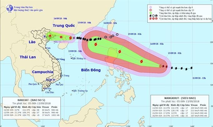 Typhoon Mangkhut nears VN