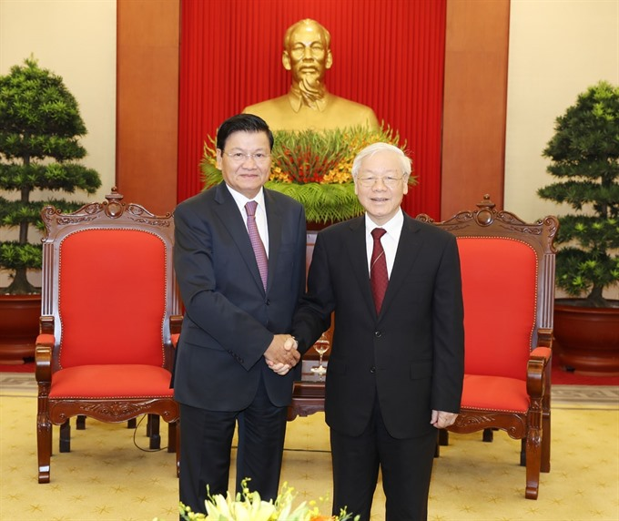 Party chief welcomes Lao Prime Minister
