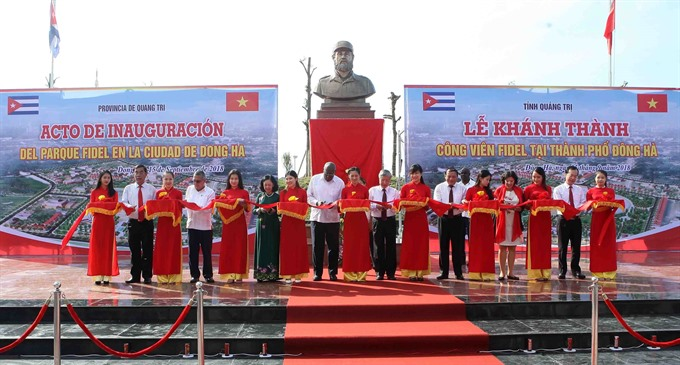Fidel Park inaugurated in central Quảng Trị Province