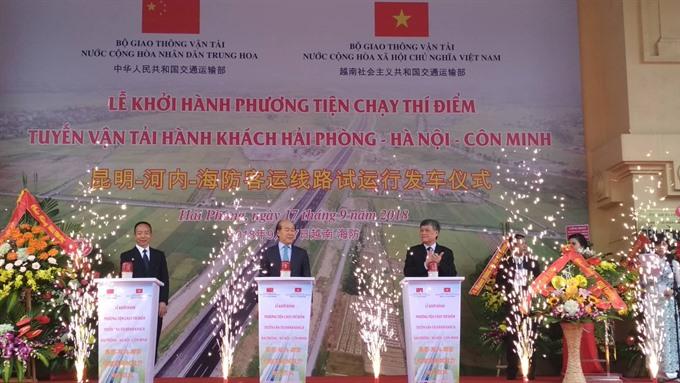 VN China promote HN-Hai Phong-Kunming road