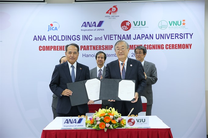 VN-Japan University ANA co-operate in human resource training