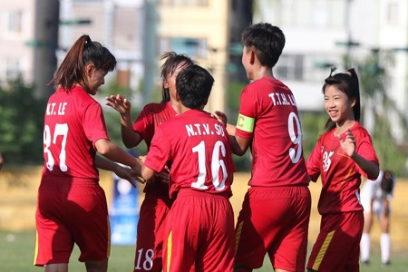 Việt Nam crush Lebanon 7-0 at AFC womens champs