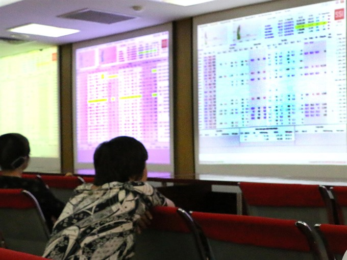 Shares gain on strong fluctuation
