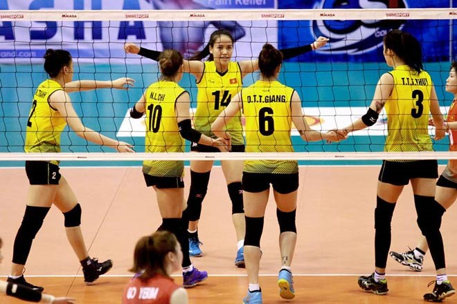 Việt Nam rank fifth at Asian Volleyball Confederation Cup for Women