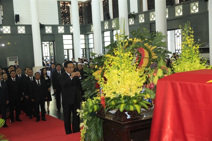 Foreign friends pay tribute to late President Trần Đại Quang