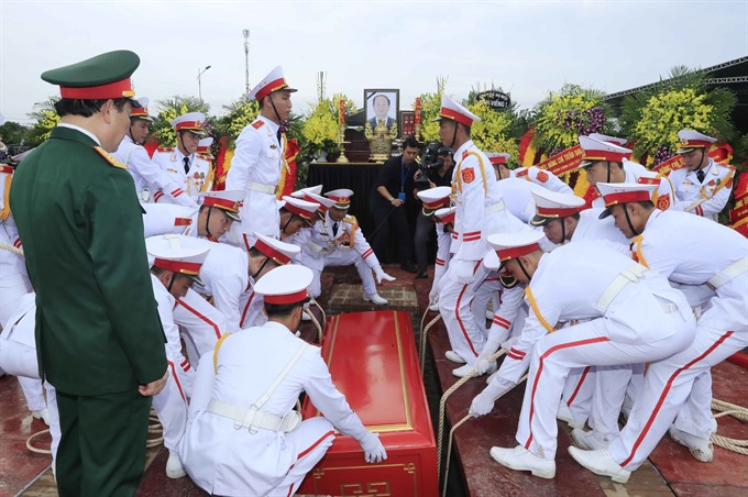 President Trần Đại Quang laid to rest in his hometown