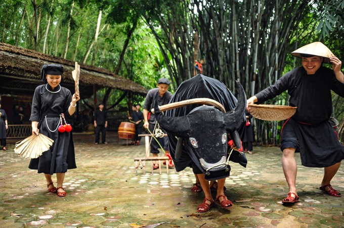 Casting away from a village of stilt houses