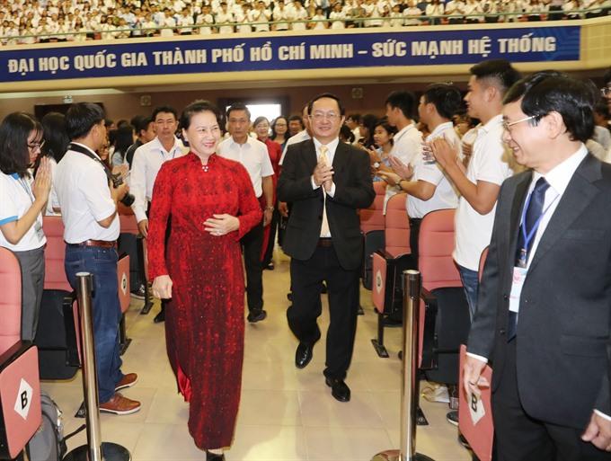 NA Chairwoman visits Việt Nam National University HCM City