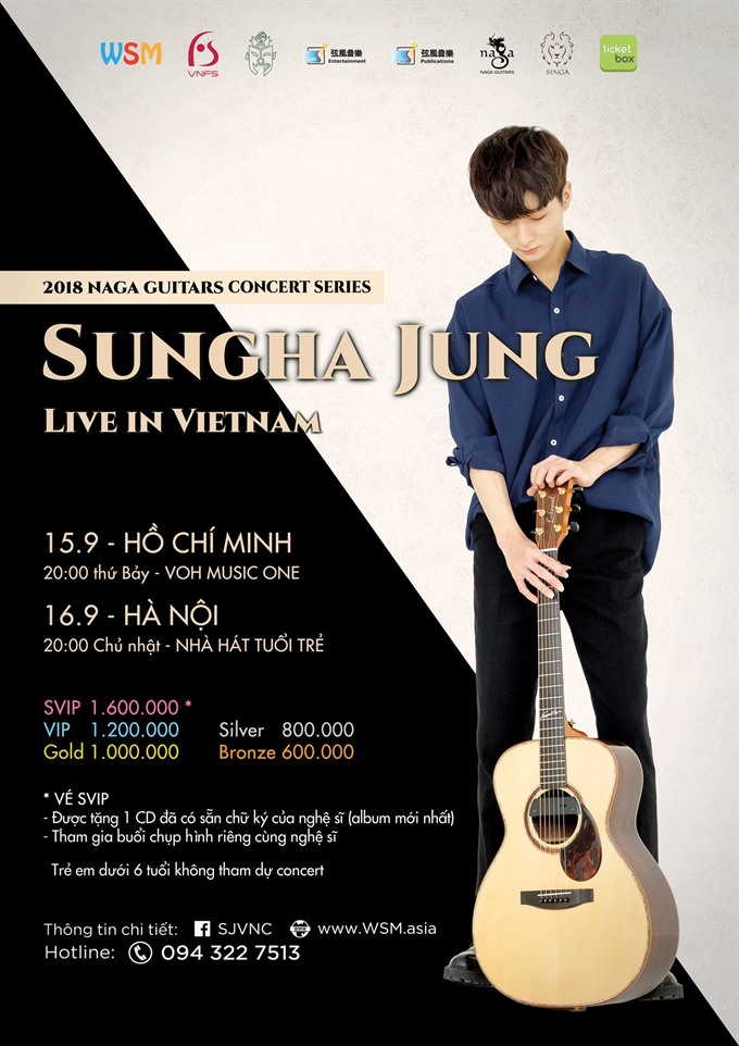 Korean guitar prodigy Jung Sung-ha to perform in VN