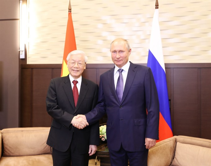 Russia an important reliable partner of Việt Nam: Party leader