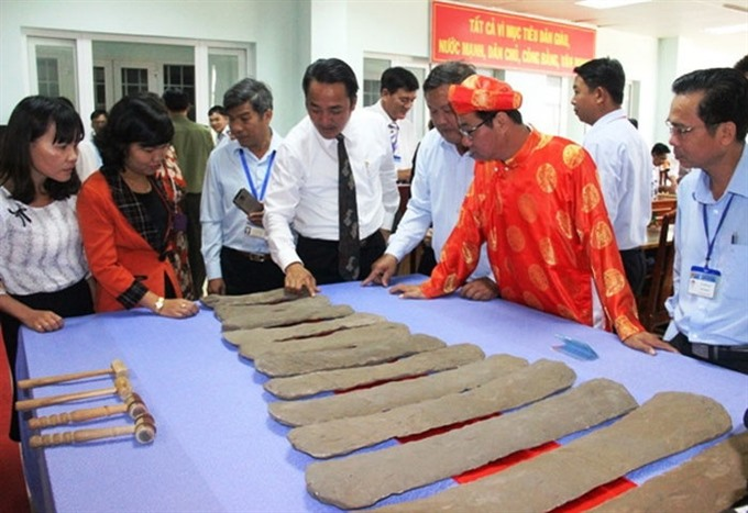 Lộc Hoà Lithophone recognised as national treasure