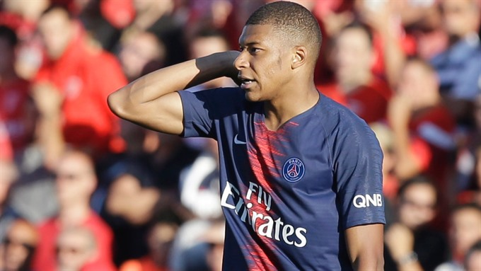 PSG star Mbappe banned for three matches after red card