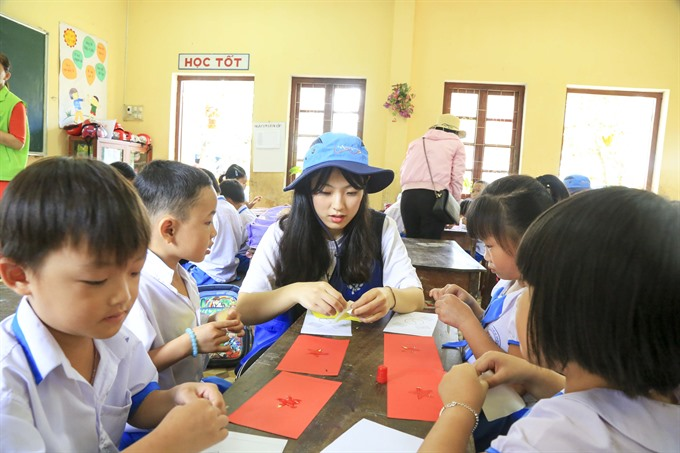 Korean students join annual education CSR in Quảng Ngãi
