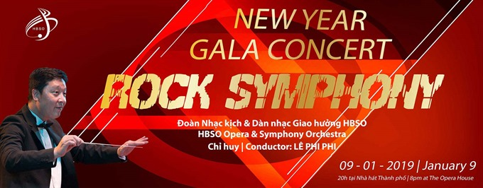 New Year Gala Rock Symphony concert at Opera House