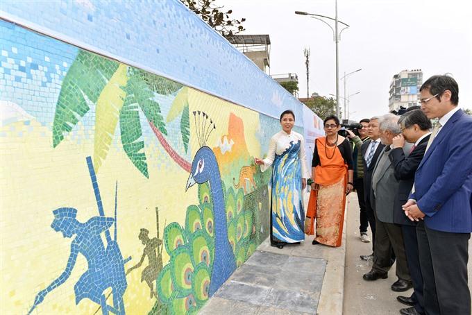 Mosaic reflecting Sri Lankan nature culture inaugurated