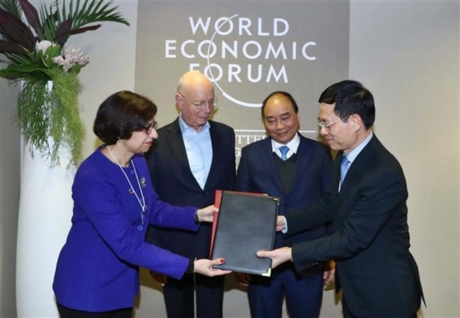 Prime Minister meets with foreign leaders in Davos
