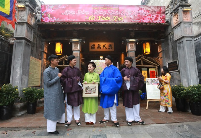 Old Quarter relics set in Lunar New Year theme