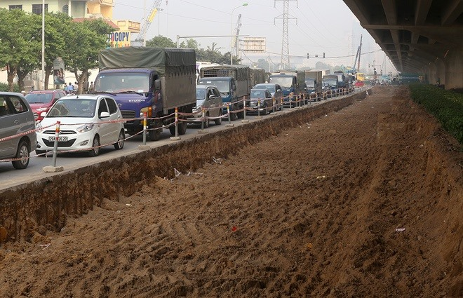 Roads widened to reduce traffic congestion