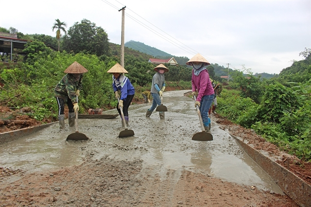 Bắc Giang improves roads in rural areas