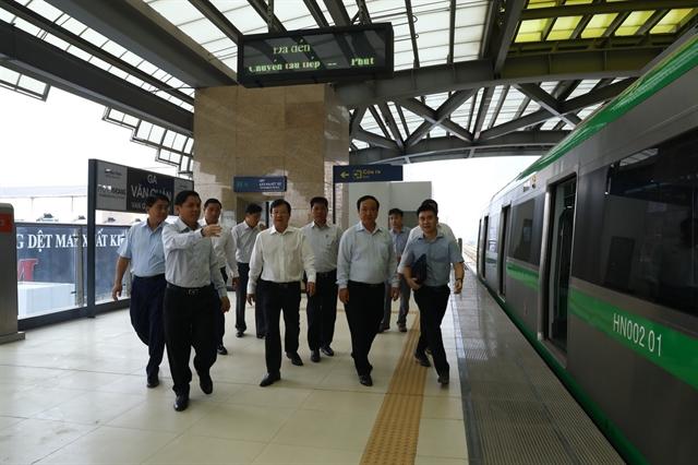 Cát Linh-Hà Đông railway must run this year: Deputy PM