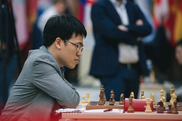 GM Liêm Sơn checkmate in Englands Grand Swiss Tournament