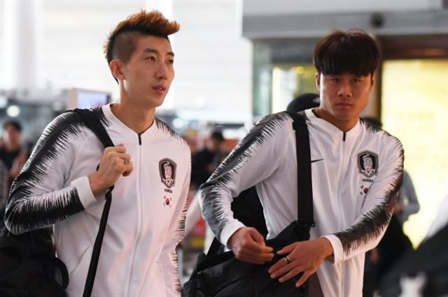 SKorea football team departs for World Cup qualifier in Pyongyang