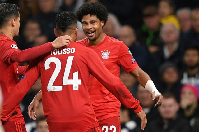 Gnabry scores four as Bayern batter Spurs 7-2 in Champions League