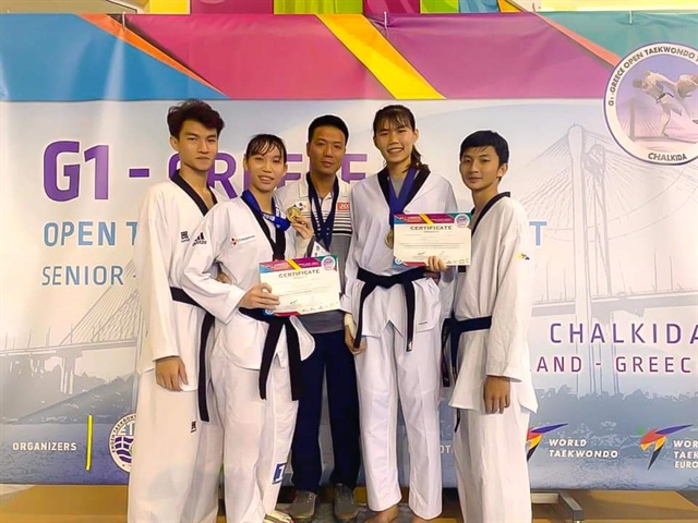 Taekwondo ahletes take home golds from Greece Open