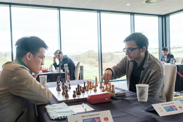 Grandmasters Liêm Sơn takes positive results at Grand Swiss