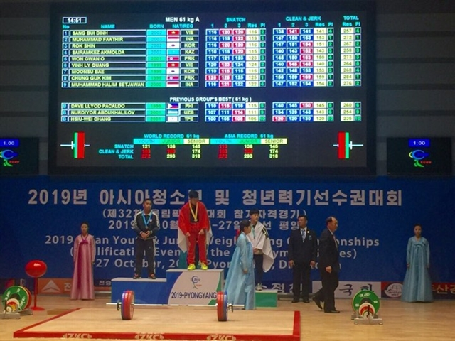 Việt Nam take more medals at youth weightlifting tournament