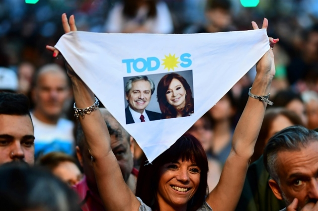 Peronist Fernandez wins Argentine presidential election