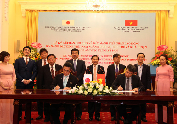 Deal signed for Vietnamese workers to find jobs in Japan